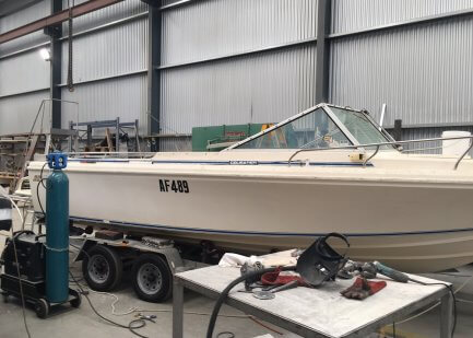 Boat before canopy