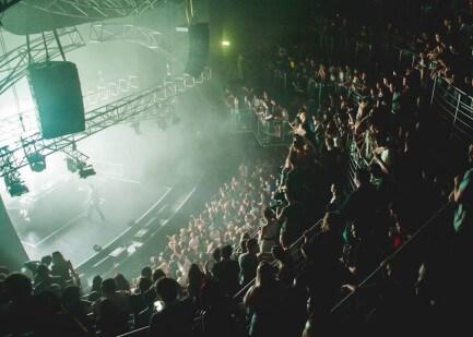 Stage set for Usher Concert